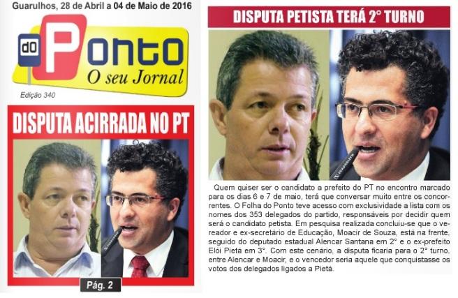 Folha do Ponto 28-04-2016 Capa e Página 2
