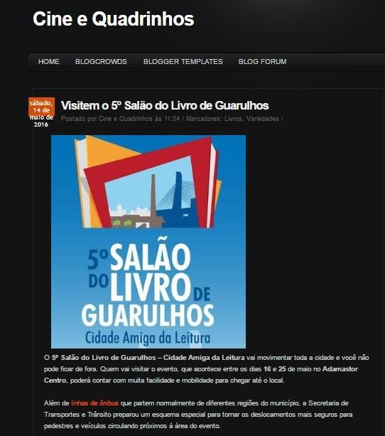 Cine e Quadrinhos 14-05-2016