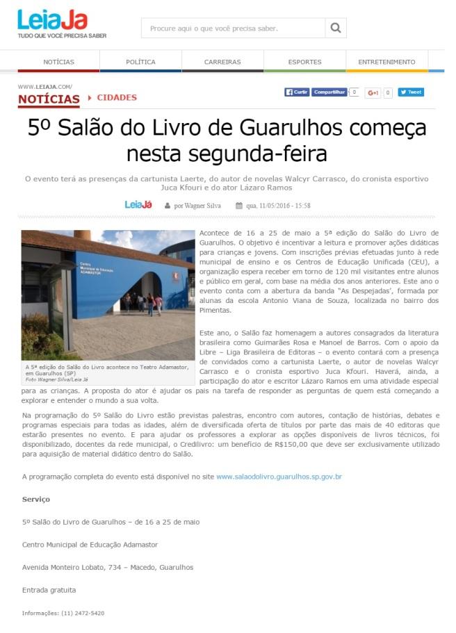 Leia Já 11-05-2016