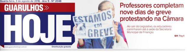 Guarulhos Hoje 03-08-2016 Capa