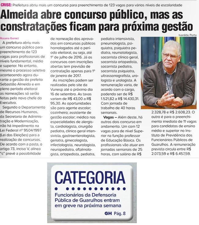 Guarulhos Hoje 19-08-2016 Capa e Página 8