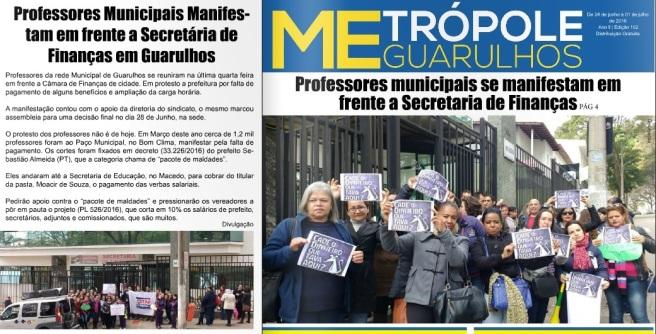 Metrópole Guarulhos 01-07-2016 Capa e Página 4