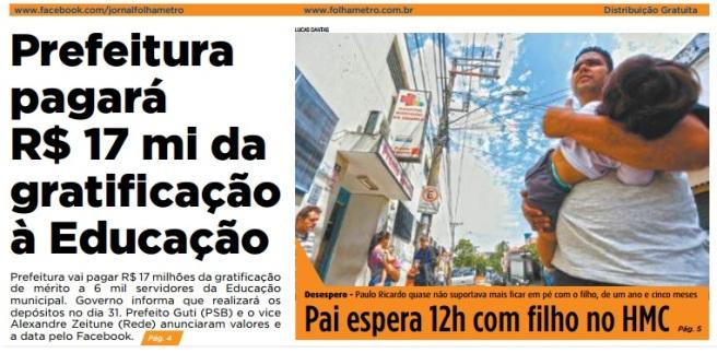 Folha Metropolitana 24-03-2017 Capa