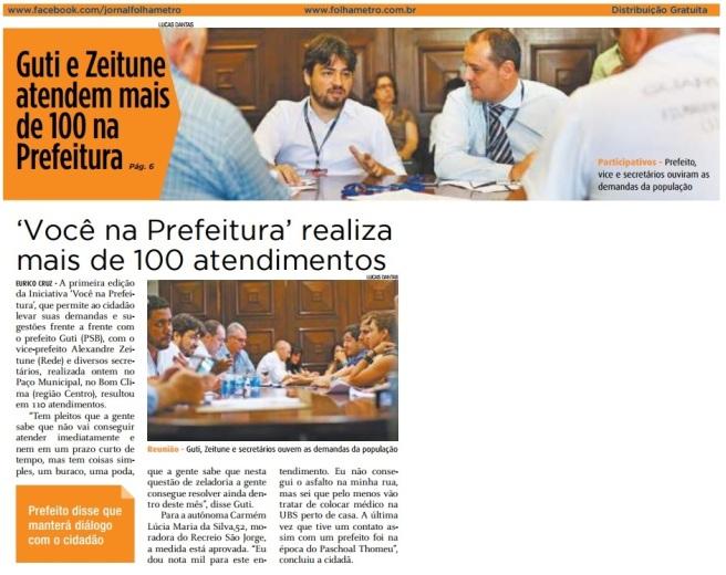 Folha Metropolitana 9-2-17 Capa e Página 6