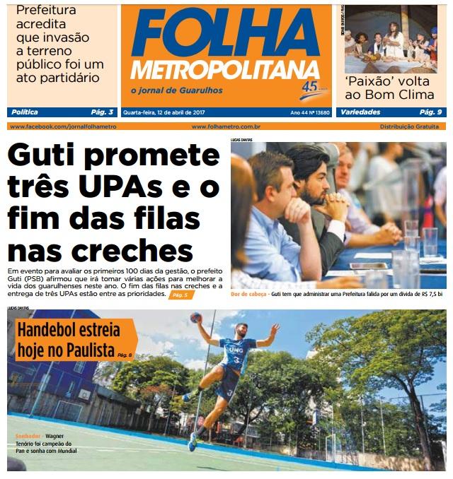 Folha Metropolitana 12-04-2017 Capa
