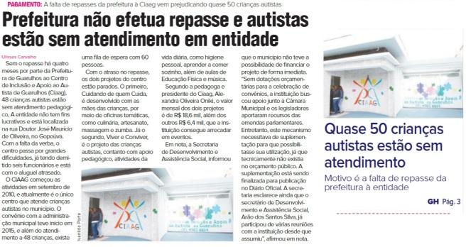Guarulhos Hoje 20-04-2017 Capa e Página 3
