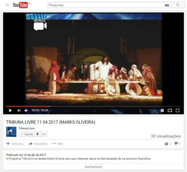 Youtube TRIBUNA LIVRE (MARKS OLIVEIRA) 11-04-2017