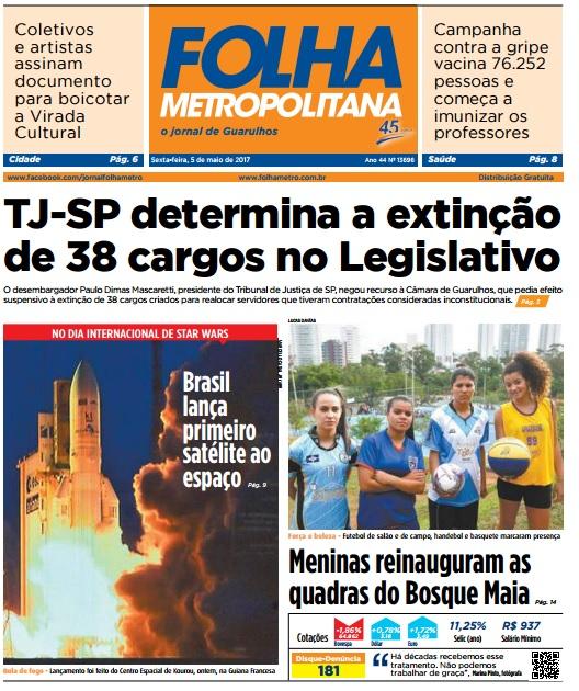 Folha Metropolitana 05-05-2017 Capa