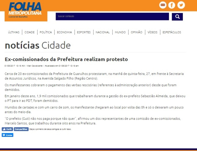 Folha Metropolitana 01-05-2017