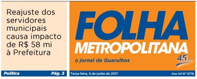 Folha Metropolitana 06-06-2017 Capa