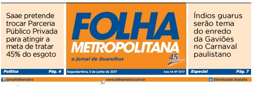 Folha Metropolitana 5-6-2017 Capa