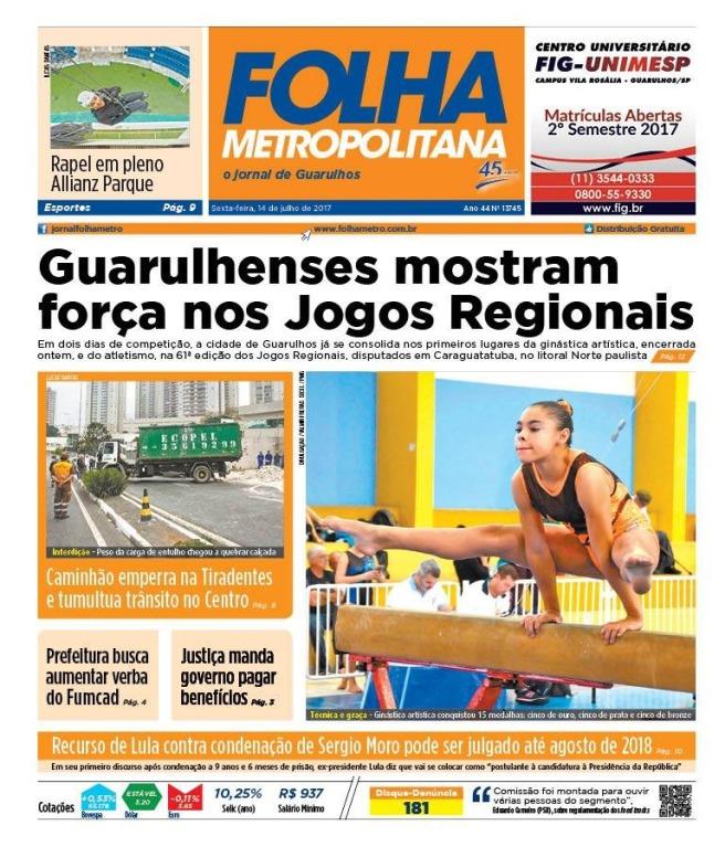Folha Metropolitana 14-07-2017 Capa