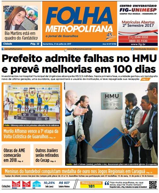 Folha Metropolitana 21-07-2017 Capa