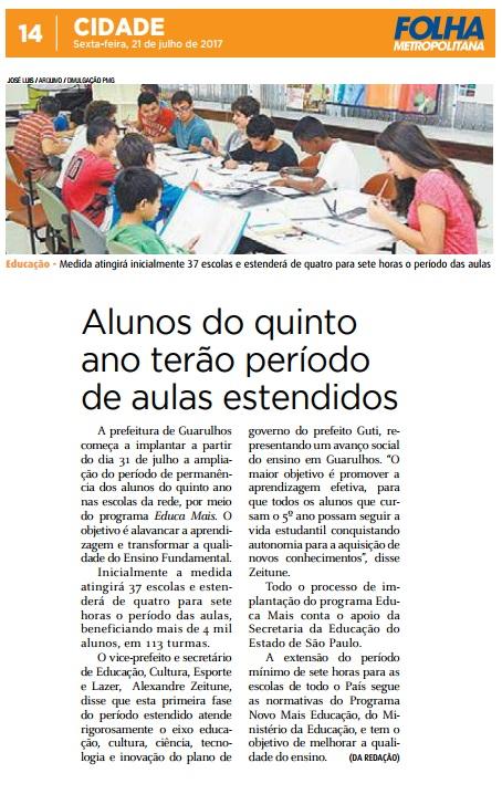 Folha Metropolitana 21-07-2017 Página 14