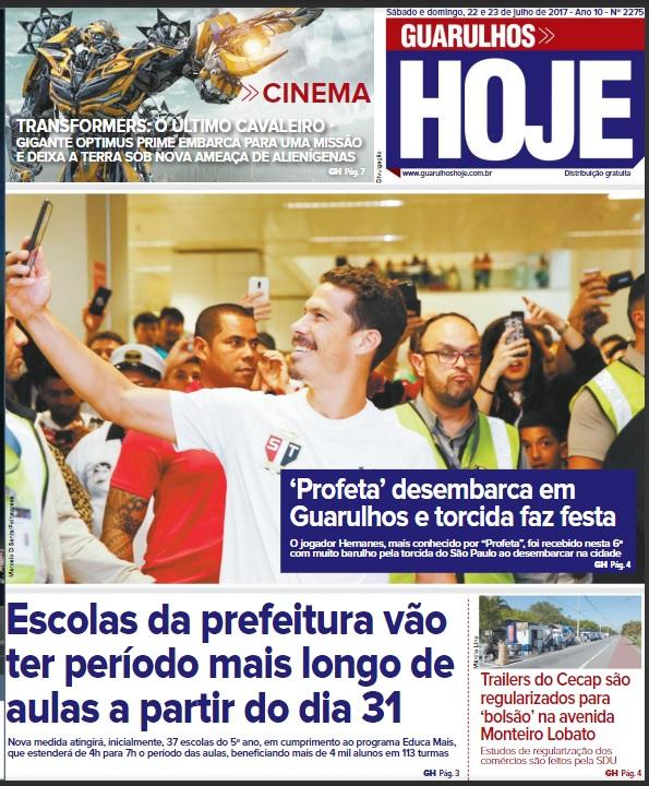 Guarulhos Hoje 22-07-2017 Capa