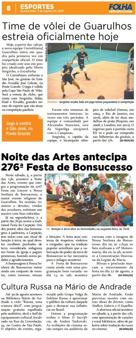 Folha Metropolitana 03-08-2017 Página 8 e 9